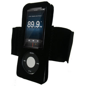 iGadgitz BLACK Neoprene Sports Armband for Apple iPod Nano 5th Gen Generation 5G (with Video Camera) 8GB &amp; 16GB Preview